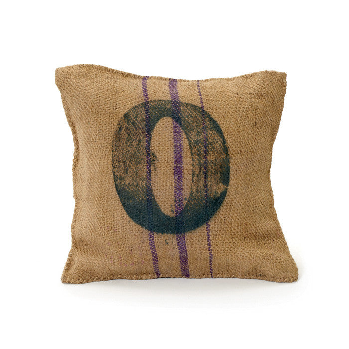 Vintage Square Sack Pillow # 0- Set Of 2