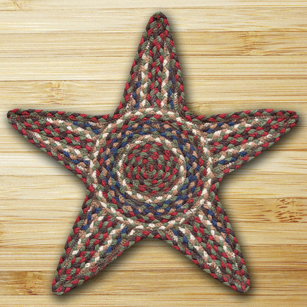 Burgundy/Gray Star Trivet