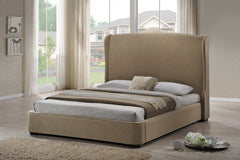 Baxton Studio Sheila Bed with Upholstered Headboard
