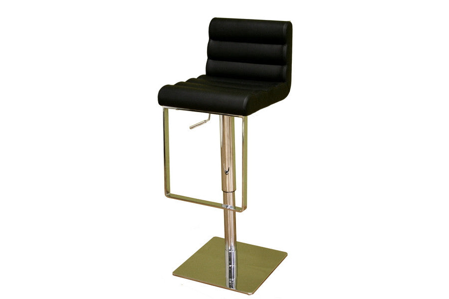 Baxton Studio Sandie Black Leather Barstool