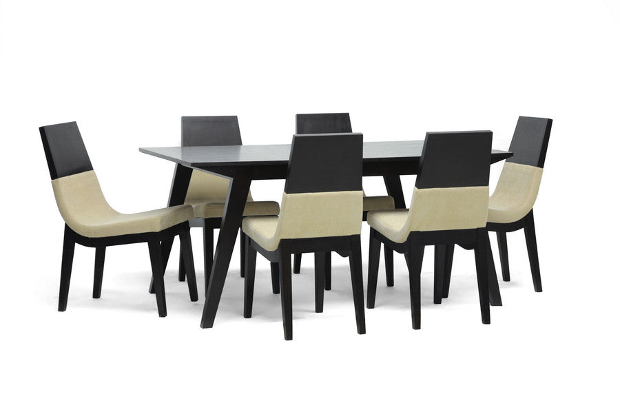 Baxton Studio Prezna 7-Piece Dining Set