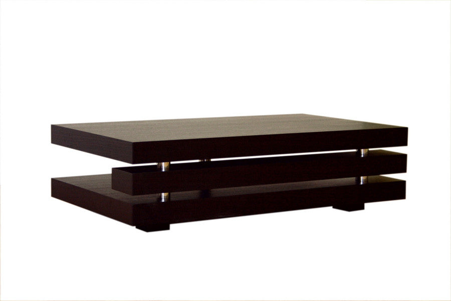Baxton Studio Wenge Color Oak Veneer Coffee Table