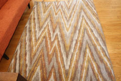 New Area Rug Beige Brown Modern Waves