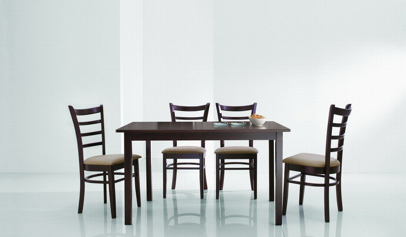 Baxton Studio Lanark Dark Brown 5 Piece Modern Dining Set
