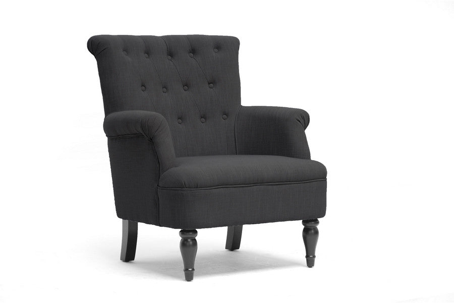 Baxton Studio Crenshaw Linen Club Chair