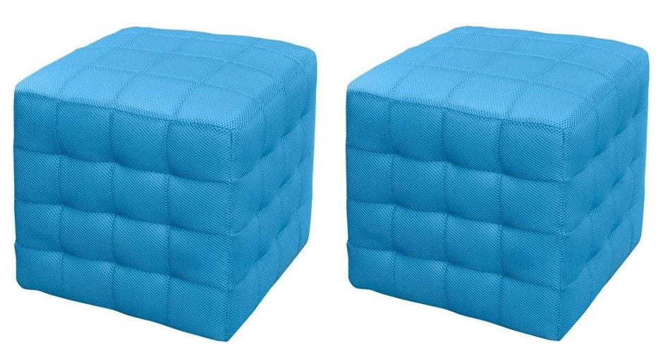 "Anzy Woven Mesh 15"" Ottoman Set of Two, Multiple Colors"
