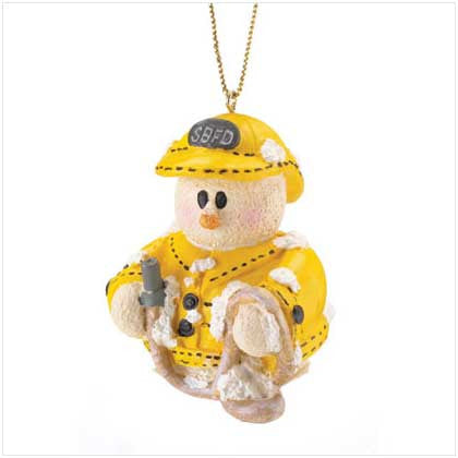 Snowberry Cuties Fireman Ornament