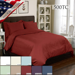 500TC 4 PC DUVET SET IN DIFFERENT COLORS