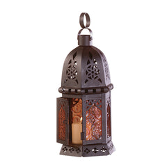 Moroccan Candle Lantern 10""