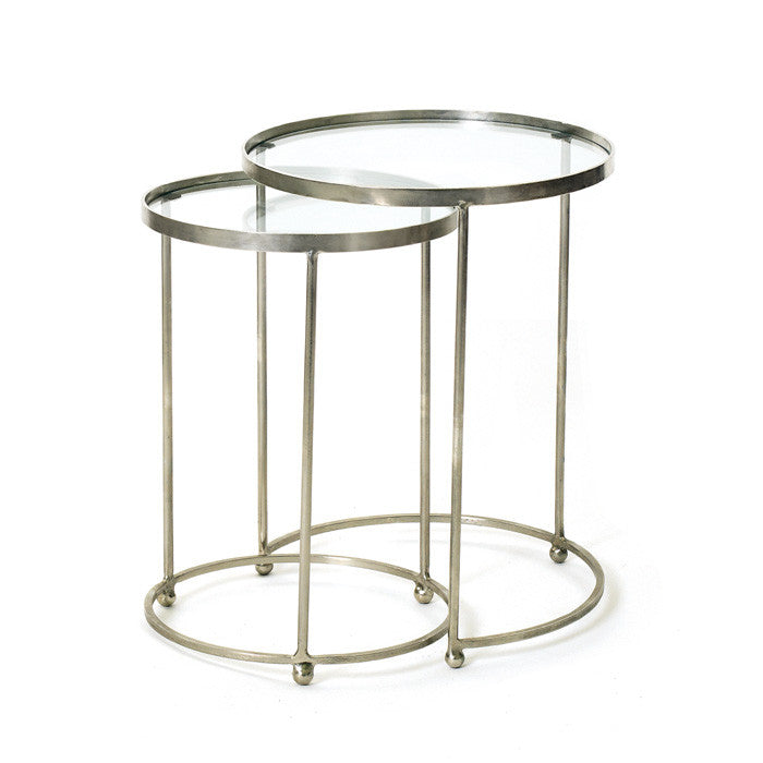 Circle Nesting Tables-Set of Two