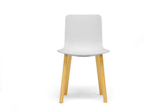 Baxton Studio Lyle Plastic Dining Chair in Set of 2