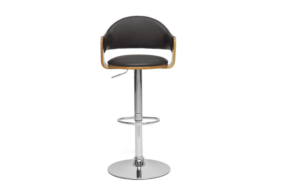 Baxton Studio Berne Black Modern Bar Stool