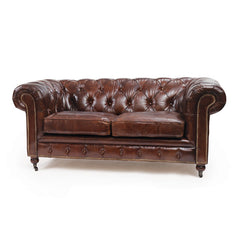 Vintage Leather London Chesterfield Sofa