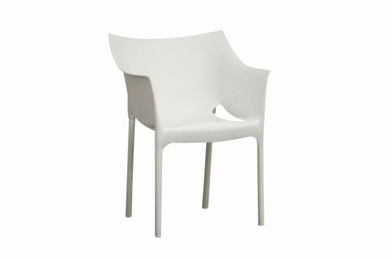 Baxton Studio White Molded Plastic Arm Chair