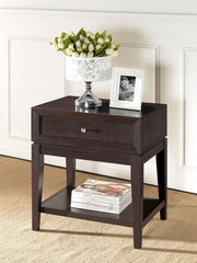 Baxton Studio Morgan Brown Accent Table and Nightstand
