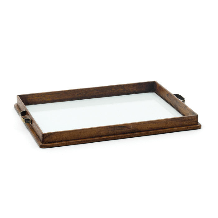 Beveled Glass Finish Yachting Tray