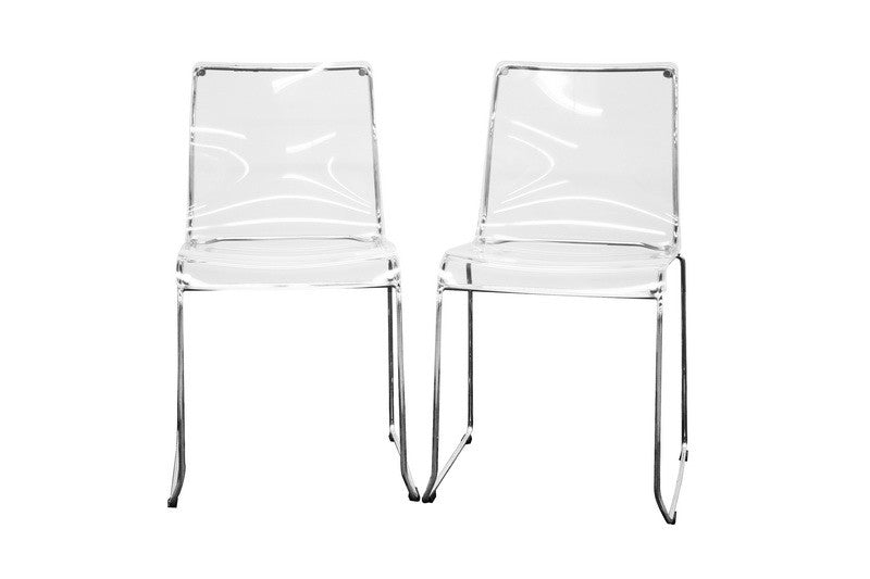 Baxton Studio Lino Acrylic Accent Chair Dining Chair