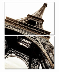Eiffel Tower Mounted Photography Print Diptych
