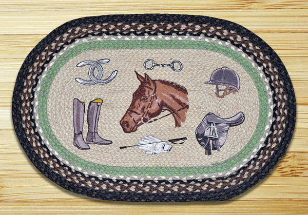 Equestrian Oval Patch Rug