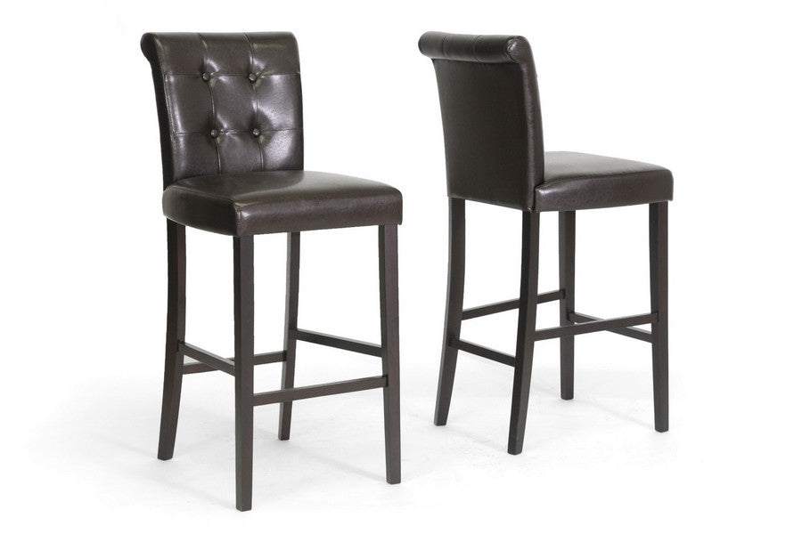 Baxton Studio Torrington Bar Stool in Set of 2