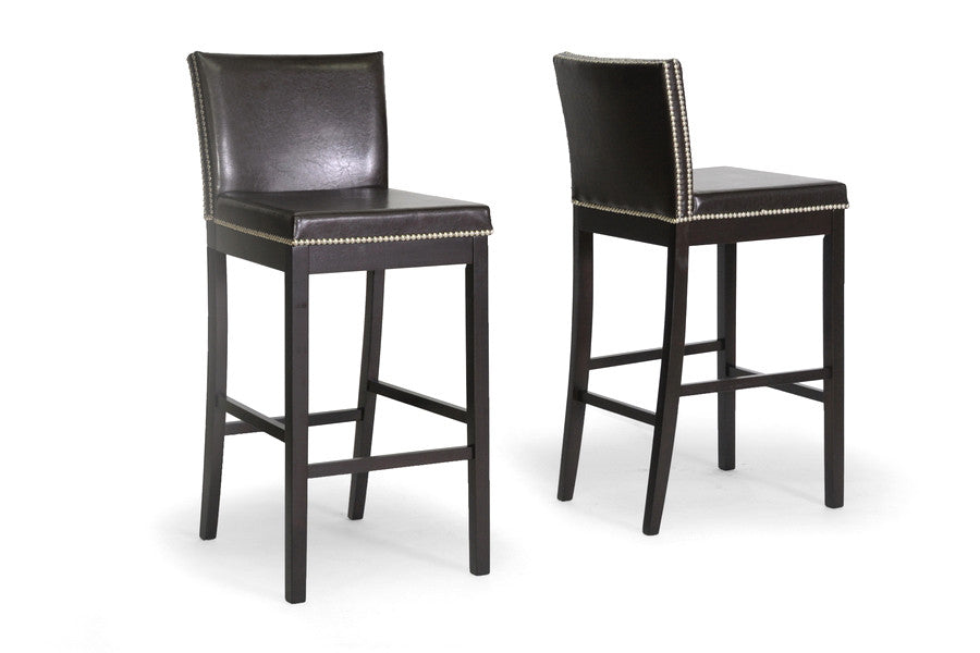 Baxton Studio Graymoor Modern Bar Stool in Set of 2