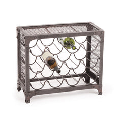 Iron Manhattan Wine Rack