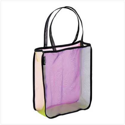Color-Block Mesh Tote