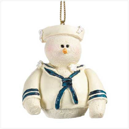 Snowberry Cuties Navy  Ornament