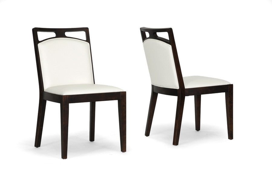 Baxton Studio Pontus Brown Modern Dining Chair in Set of 2