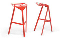 Baxton Studio Kaysa Bar Stool in Set of 2