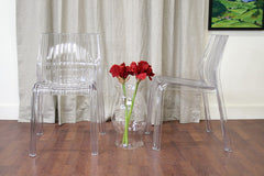 Baxton Studio Charo Acrylic Clear Chair Set of 2
