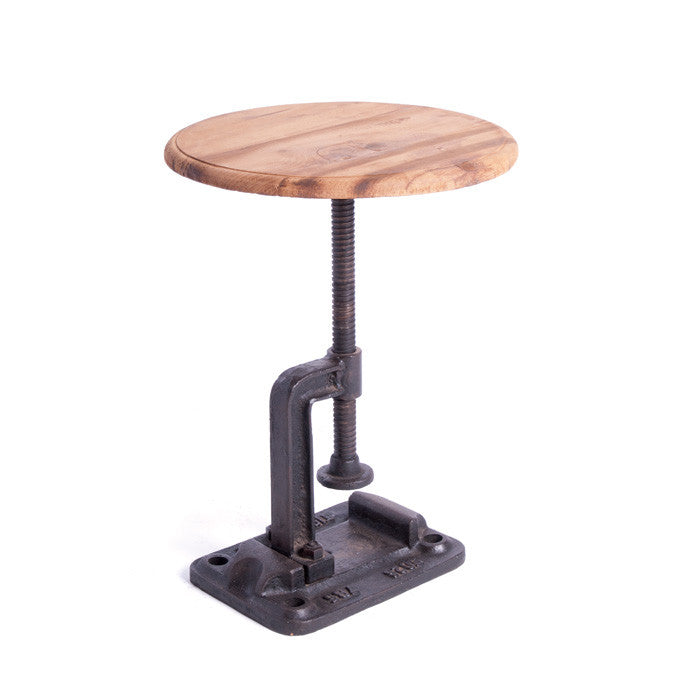 Natural Finish Clamp Stool
