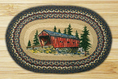 Covered Bridge Oval Patch Rug