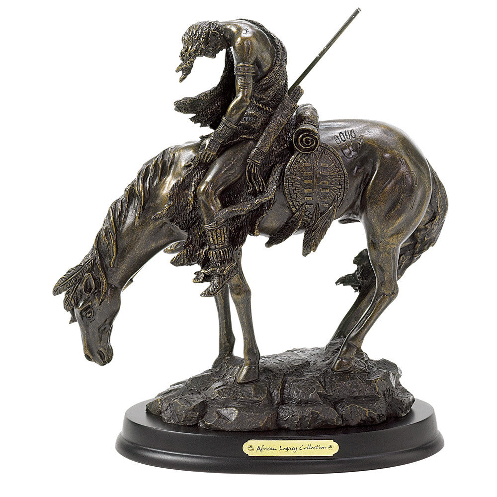 The End of the Trail Horse Figurine