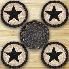Amazing Black Star Coasters