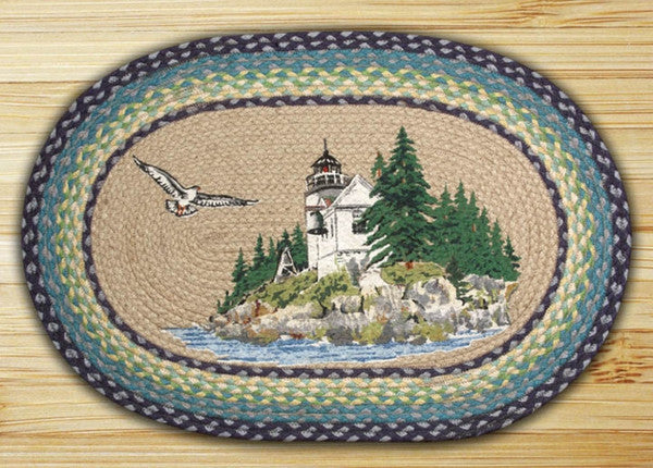 Bass Harbor Oval Patch Rug