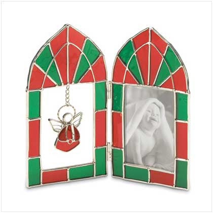 Stained Glass Christmas Picture Frame