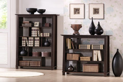 Baxton Studio Havana Brown Wood Bookcase