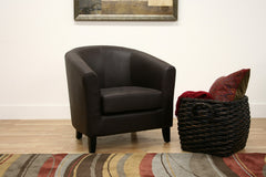 Baxton Studio Leather Club Chair