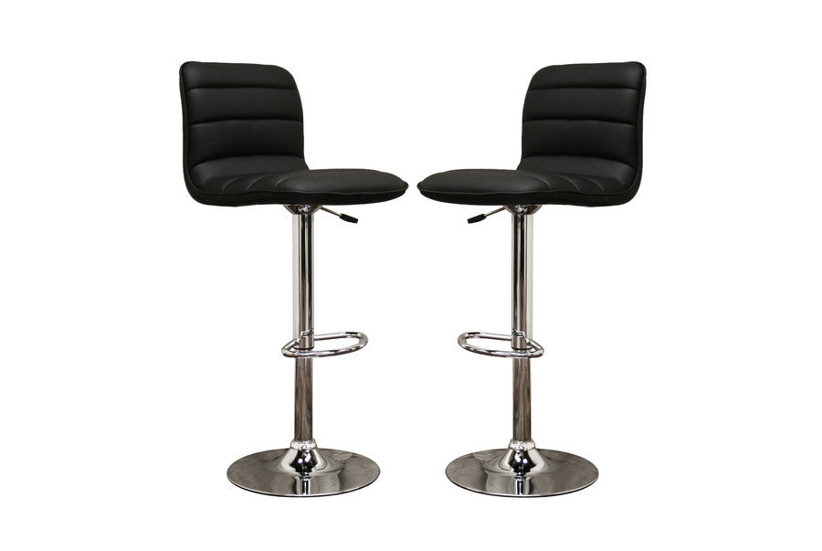 Baxton Studio Lyris Leather Bar Stool in Set of 2