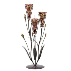 Leopard Lily Triple Candle Tree