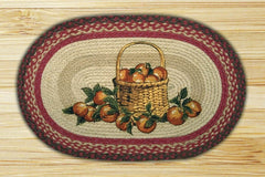 Apple Basket Oval Patch Rug