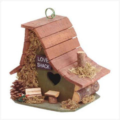 Stylish Wood Love Shack Birdhouse
