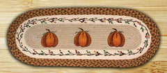 Harvest Pumpkin Oval Patch Runner In Different Sizes