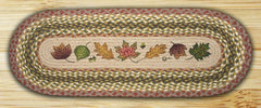 Autumn Leaves Oval Patch Runner In Different Sizes