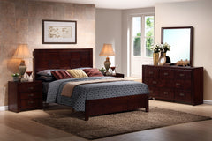 Baxton Studio Trowbridge Cherry 5-Piece Modern Bedroom Set