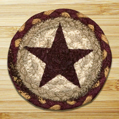 Burgundy Star Individual Coaster