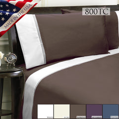 DUET 800TC SHEET SET IN DIFFERENT COLORS AND SIZES