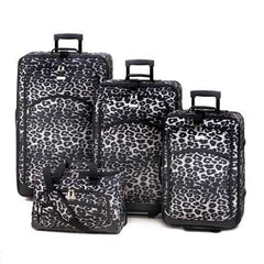 Snow Leopard Luggage Set