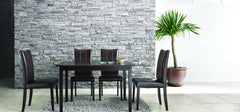 Baxton Studio Eden Dark Brown 5 Piece Modern Dining Set
